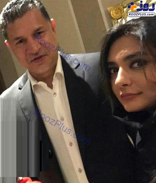 ژست صمیمانه علی دایی در کنار خانم بازیگر+عکس