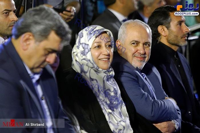 ظریف و همسرش در بزرگداشت روز تهران +عکس